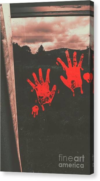 Blood Canvas Print - Mark Of Murder by Jorgo Photography - Wall Art Gallery