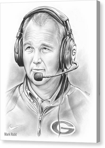 Georgia Canvas Print - Mark Richt  by Greg Joens