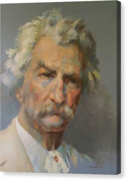 Mark Twain Canvas Print by Mike Hanlon