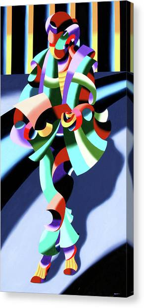 Mark Webster - Abstract Futurist Modern Woman In Tokyo Canvas Print