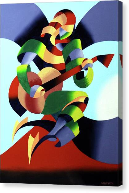 Mark Webster - Abstract Guitarist Canvas Print