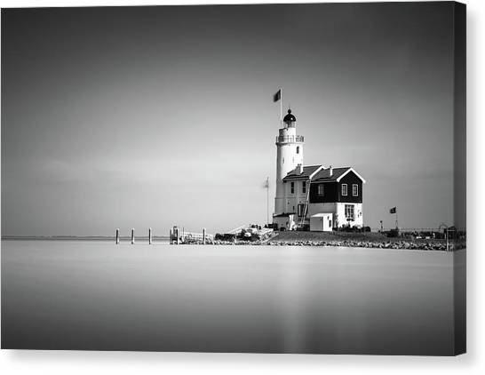 Netherlands Canvas Print - Marken Lighthouse by Ivo Kerssemakers