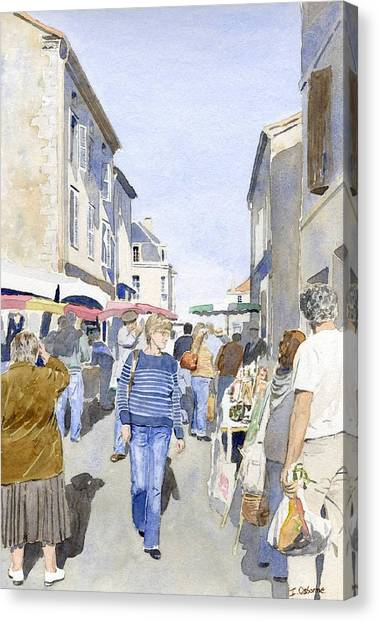 Market Day   Canvas Print by Ian Osborne
