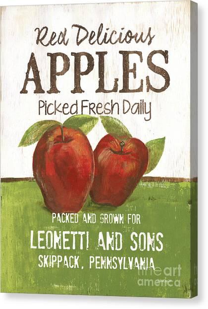 Apple Tree Canvas Print - Market Fruit 2 by Debbie DeWitt
