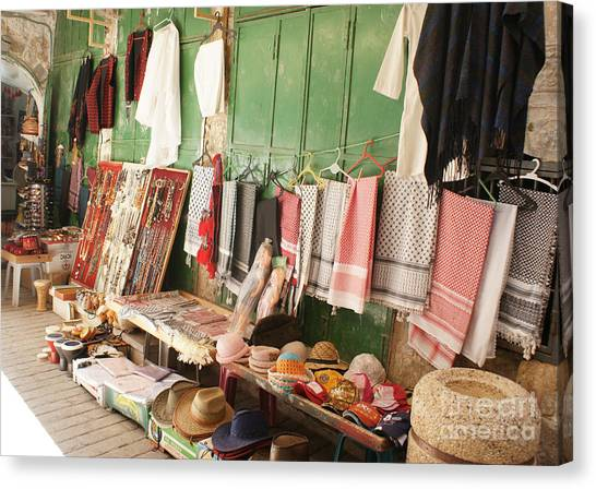Market Stall In Hebron 2 Canvas Print