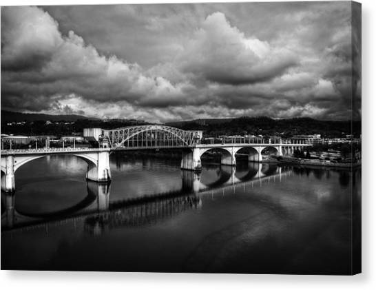 Market Street Bridge In Black And White Canvas Print
