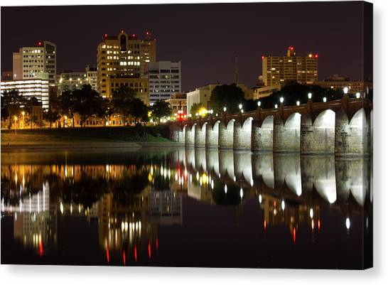 Market Street Bridge Reflections Canvas Print