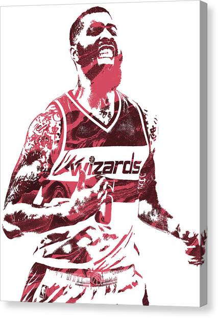 Washington Wizards Canvas Print - Markieff Morris Washington Wizards Pixel Art by Joe Hamilton
