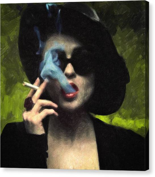 Impasto Oil Canvas Print - Marla Singer by Taylan Soyturk