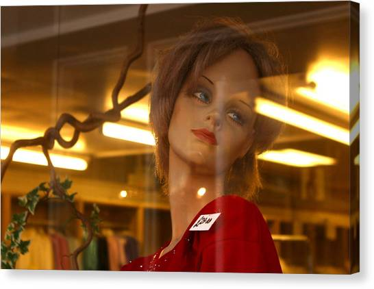 Marlene Looks At Her Life Canvas Print by Jez C Self