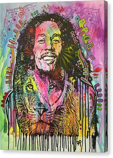Bob Marley Canvas Print - Marley Iron Lion by Dean Russo Art
