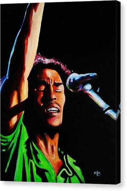 Marley One Love Canvas Print by Richard Klingbeil
