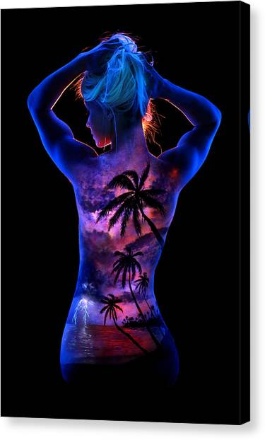 6904776249e Canvas Print featuring the painting Marley s Tropical Storm by John  Poppleton