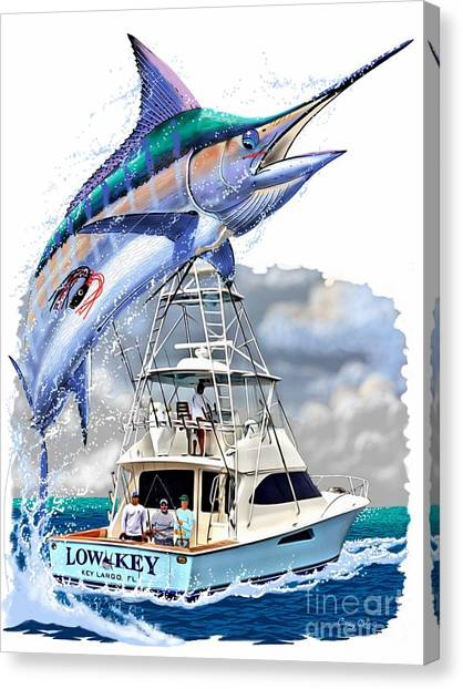 Angler Art Canvas Print - Marlin Commission  by Carey Chen