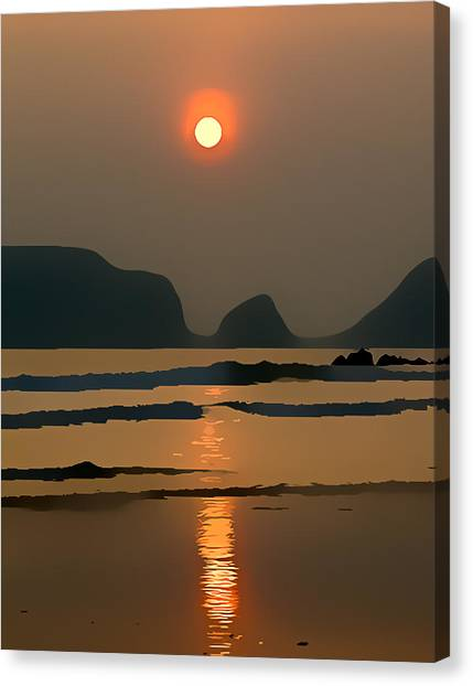 Marloes Sunset Canvas Print by Gareth Davies
