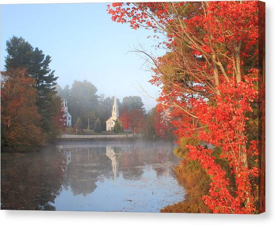 Marlow Canvas Print - Marlow Village Early Autumn Morning by John Burk