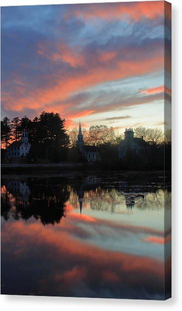 Marlow Canvas Print - Marlow Village Sunset by John Burk