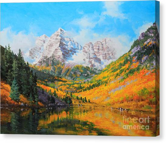 Kim Canvas Print - Maroon Bells by Gary Kim