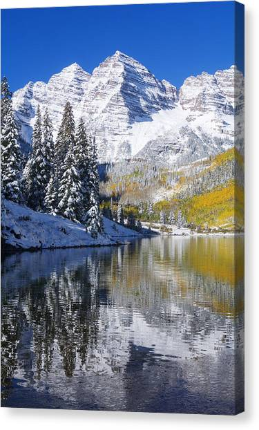 Peace Tower Canvas Print - Maroon Lake And Bells 2 by Ron Dahlquist - Printscapes