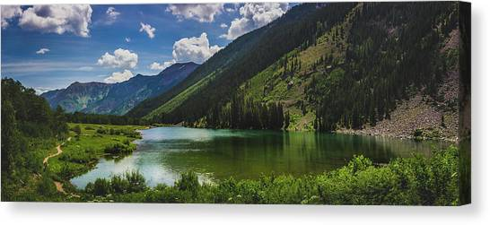 Maroon Lake Panorama Canvas Print
