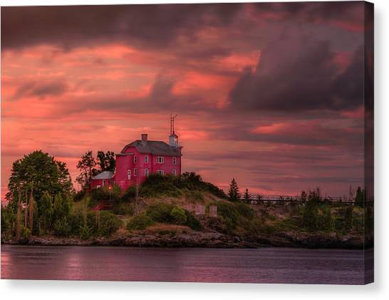 Marquette Harbor Lighthouse Canvas Print