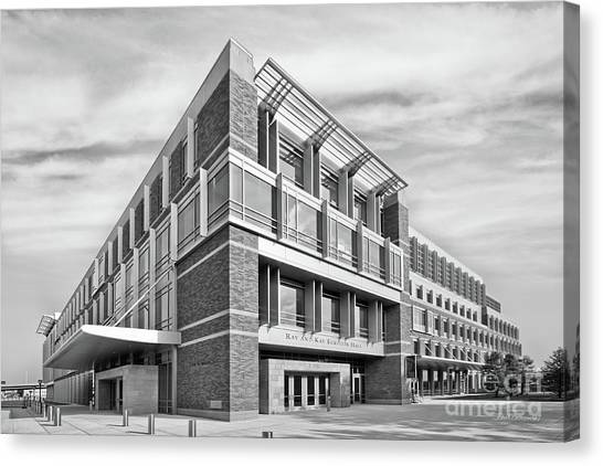 University Of Wisconsin - Madison Canvas Print - Marquette University Eckstein Hall  by University Icons