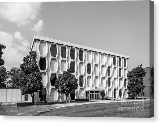 Retro Canvas Print - Marquette University Lalumiere Hall by University Icons