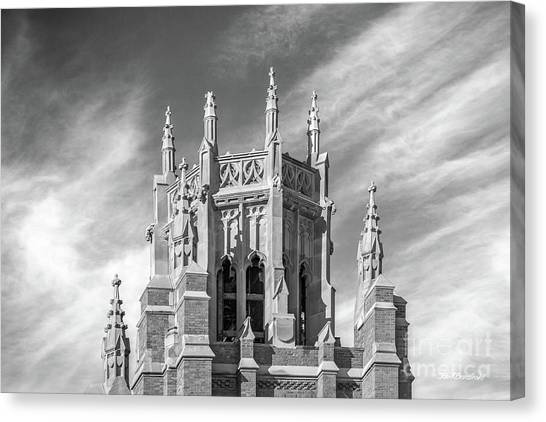 University Of Wisconsin - Madison Canvas Print - Marquette University Marquette Hall by University Icons