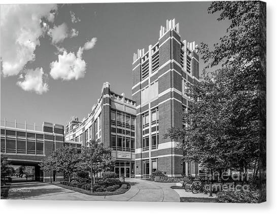 University Of Wisconsin - Madison Canvas Print - Marquette University Raynor Library by University Icons