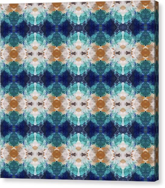 Pattern Canvas Print - Marrakesh Blues- Art By Linda Woods by Linda Woods