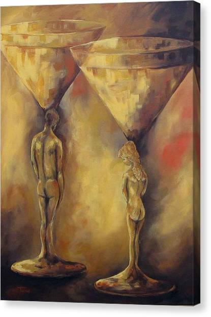 Marriage Of The Martinis  Canvas Print