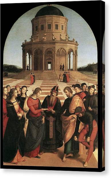 Marriage Of The Virgin - 1504 Canvas Print by Raphael
