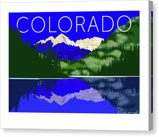 Maroon Bells Day Canvas Print