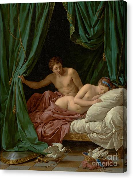 Rococo Art Canvas Print - Mars And Venus, Allegory Of Peace, 1770  by Louis Jean Francois Lagrenee I