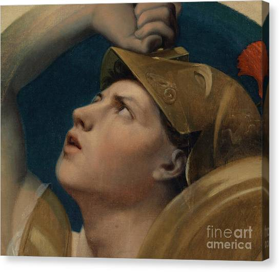 God Of War Canvas Print - Mars by Jean Auguste Dominique Ingres