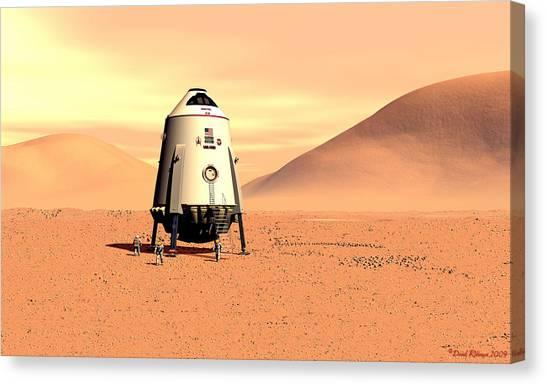 Mars Lander Ares First Steps Canvas Print