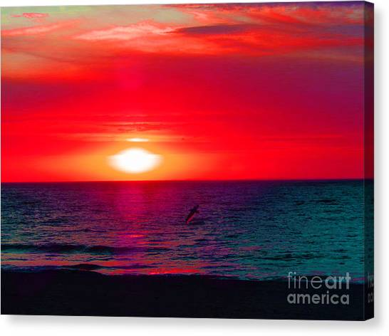 Mars Sunset Canvas Print