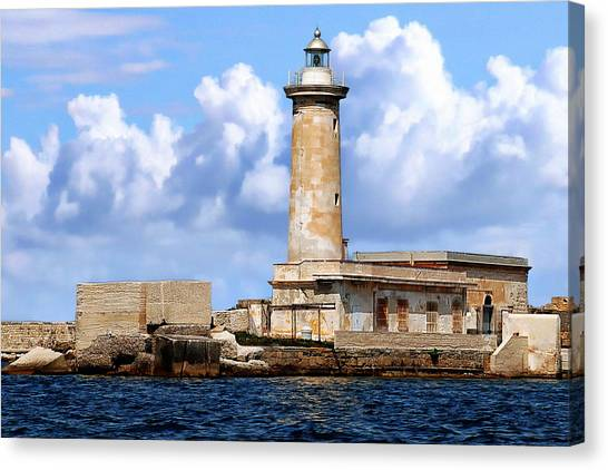 Marsala Lighthouse Canvas Print