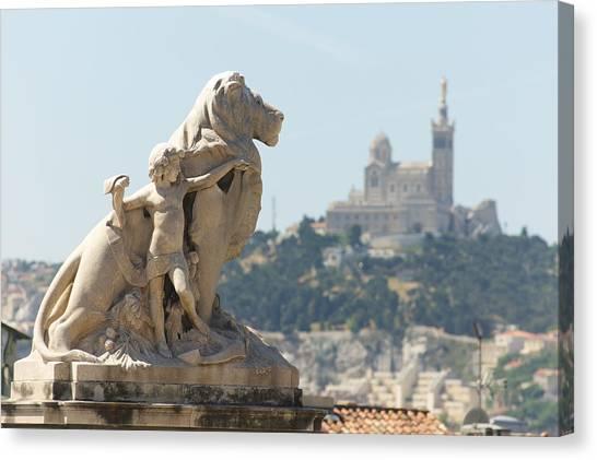 Marseille-saint-charles Statue, France Canvas Print