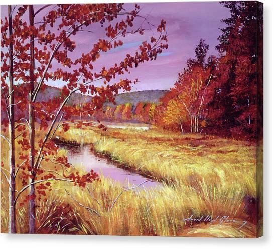 Wetlands Canvas Print - Marsh Grass by David Lloyd Glover