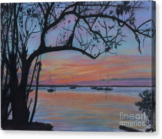 Marsh Harbour At Sunset Canvas Print