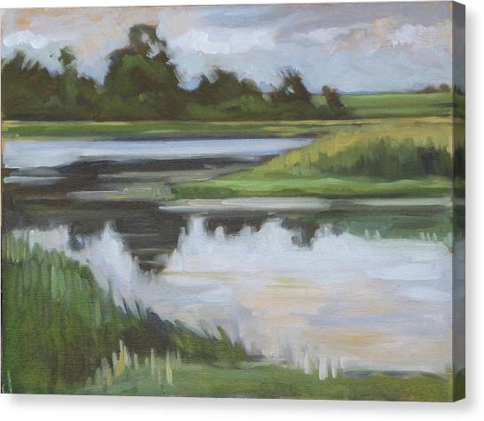 Canvas Print - Marsh, June Afternoon by Kim Gordon