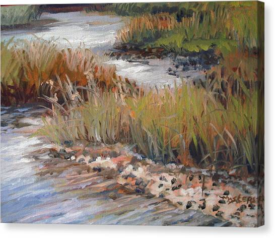 Marsh Reflections Canvas Print by Marilyn Masters