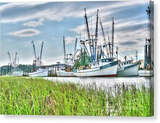 Marsh View Shrimp Boats Canvas Print