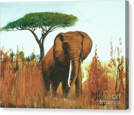 Marsha's Elephant Canvas Print
