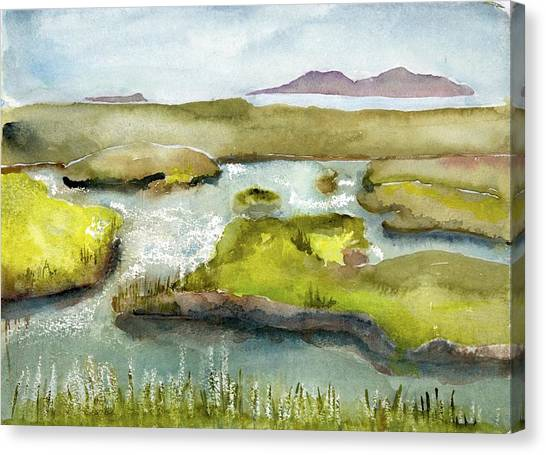 Marshes With Grash Canvas Print