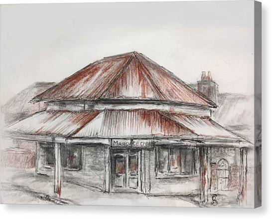 Marsh's Corner Store Canvas Print