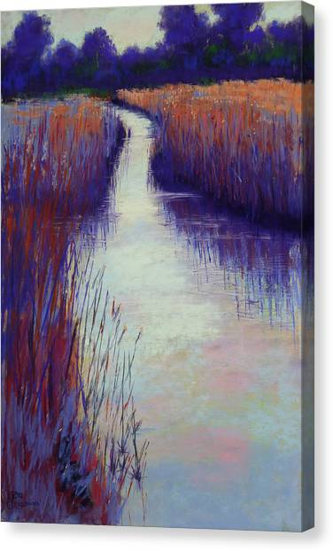 Marshy Reeds Canvas Print