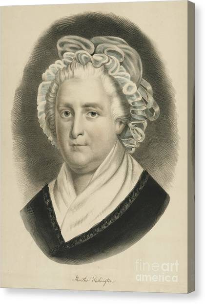 Currier And Ives Canvas Print - Martha Washington  by Currier and Ives