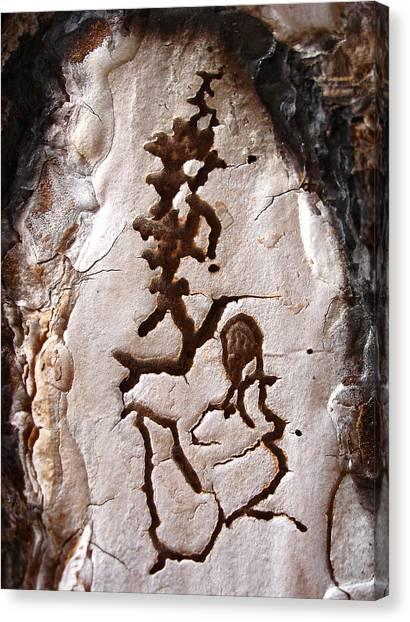 Martian Dance - Tree Bark Art Canvas Print